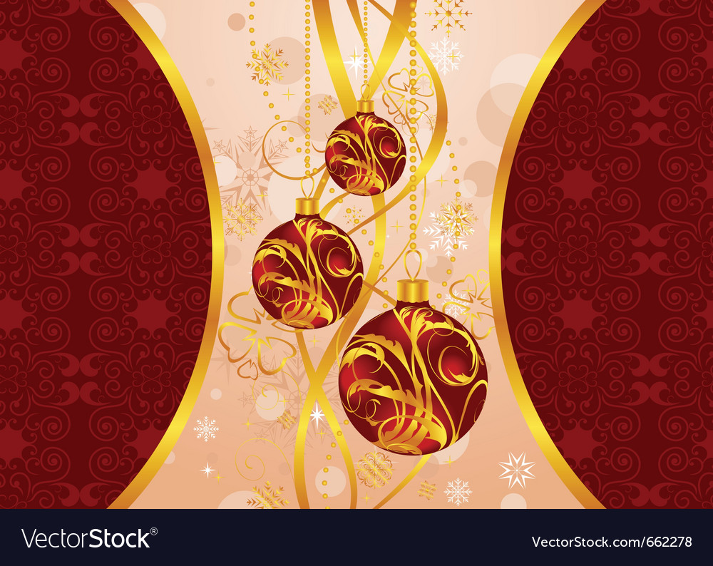 Christmas background with set balls - vector | Price: 1 Credit (USD $1)