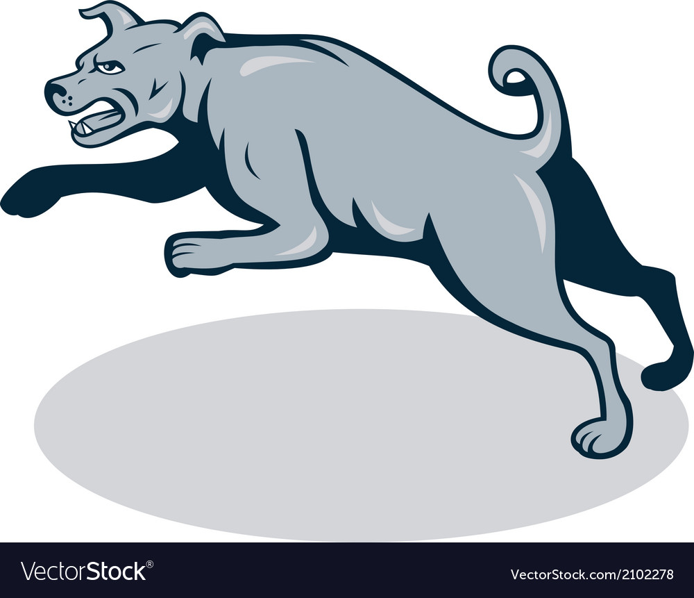 Mastiff dog mongrel jumping cartoon vector | Price: 1 Credit (USD $1)