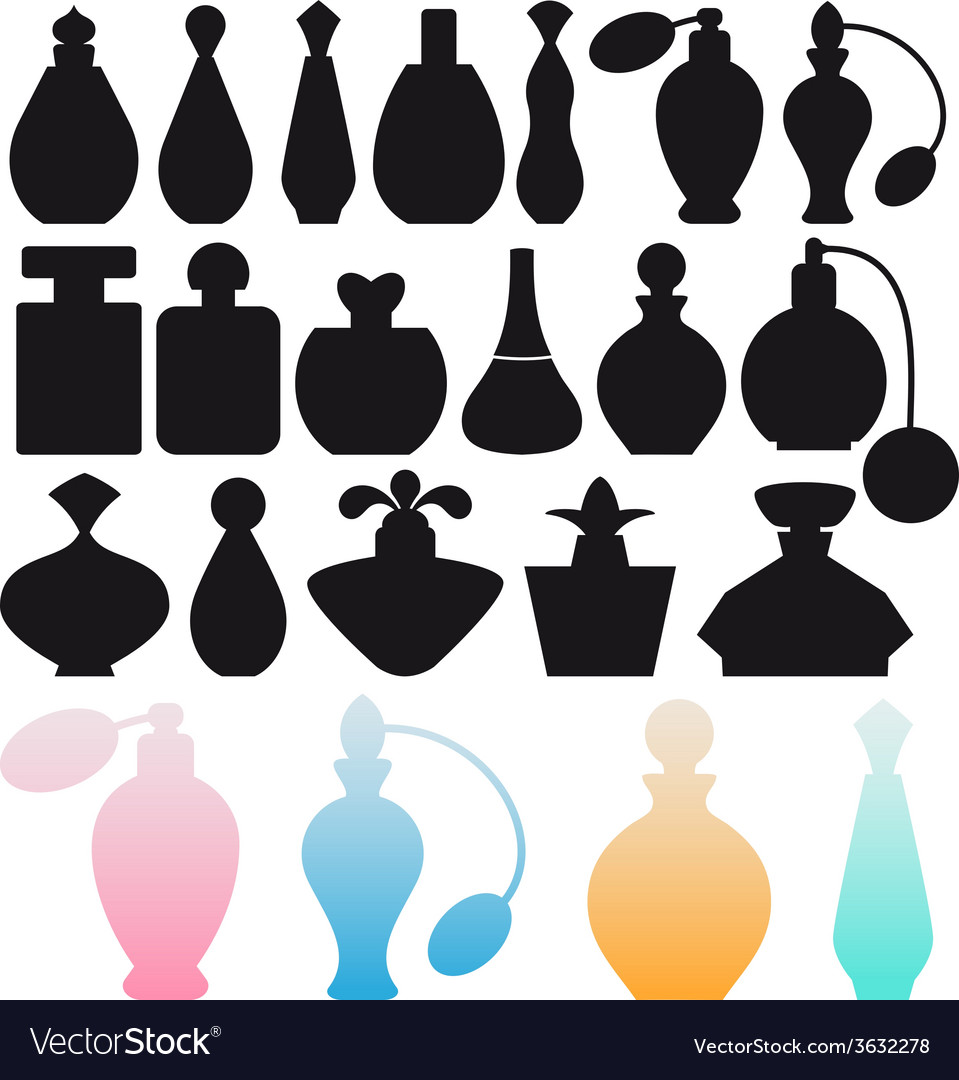 Perfume bottles vector | Price: 1 Credit (USD $1)