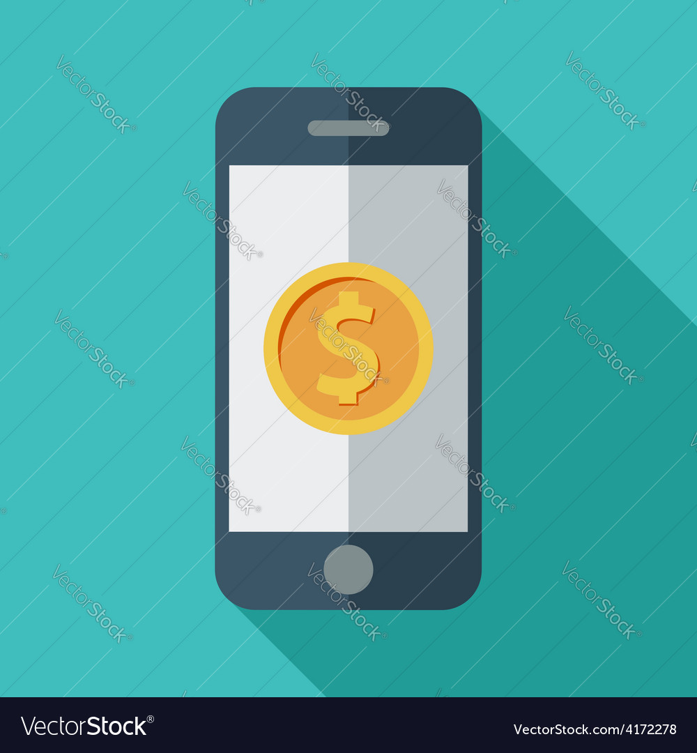 Phone with dollar sign vector | Price: 1 Credit (USD $1)