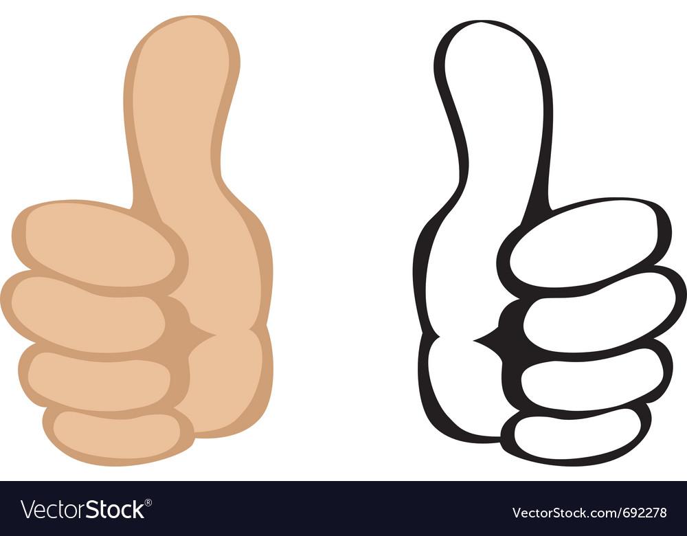 Thumbs up gesture vector