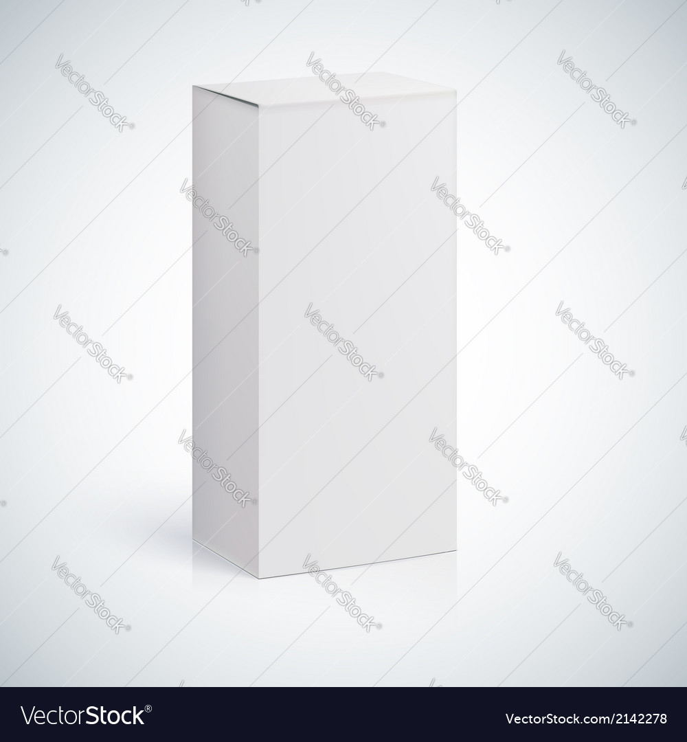 White blank box with empty space vector | Price: 1 Credit (USD $1)