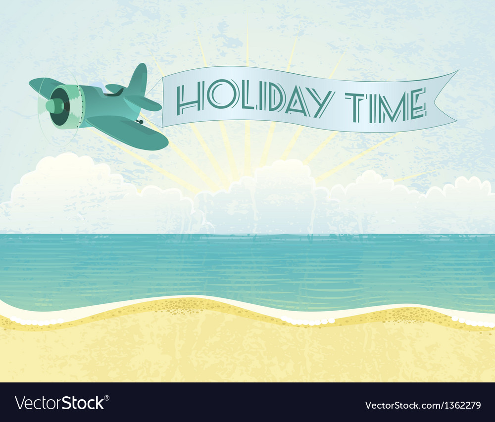 Beach plane vector | Price: 1 Credit (USD $1)
