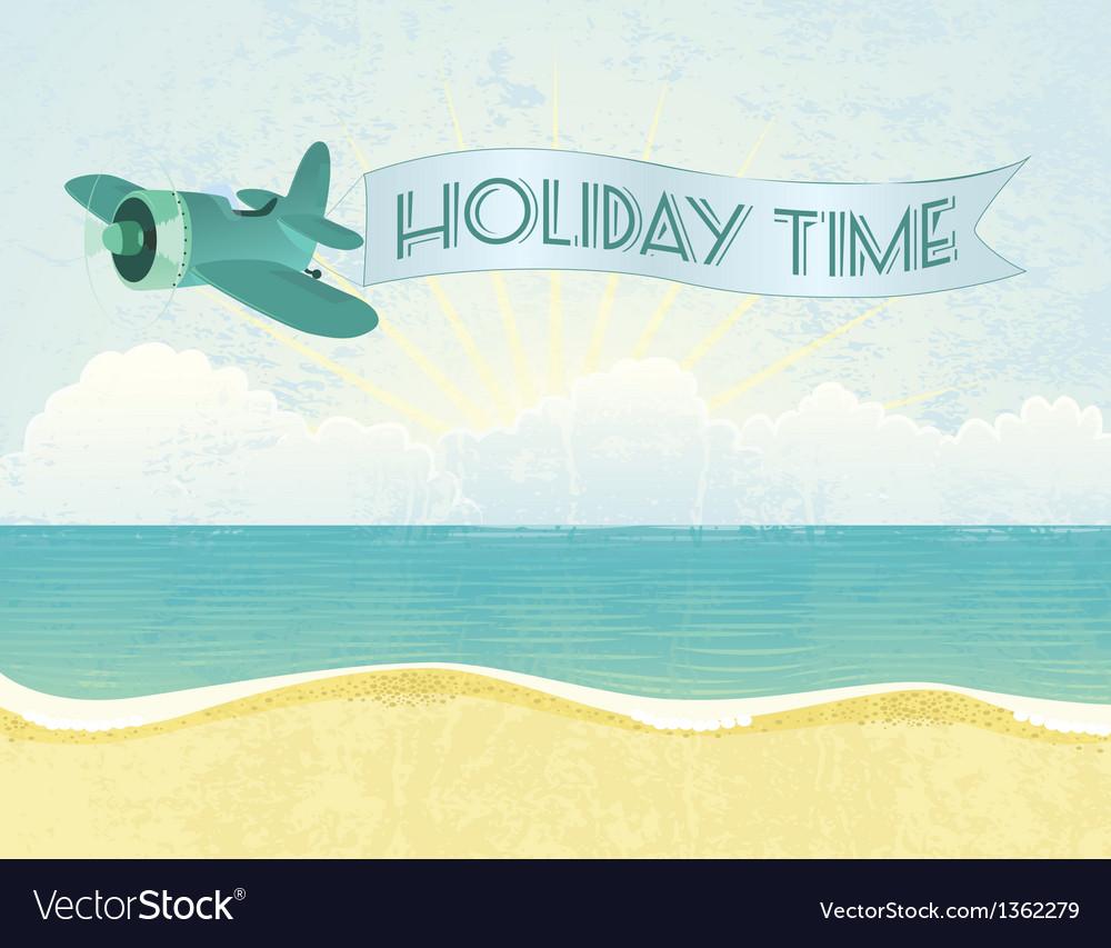 Beach plane vector | Price: 1 Credit (USD $1)