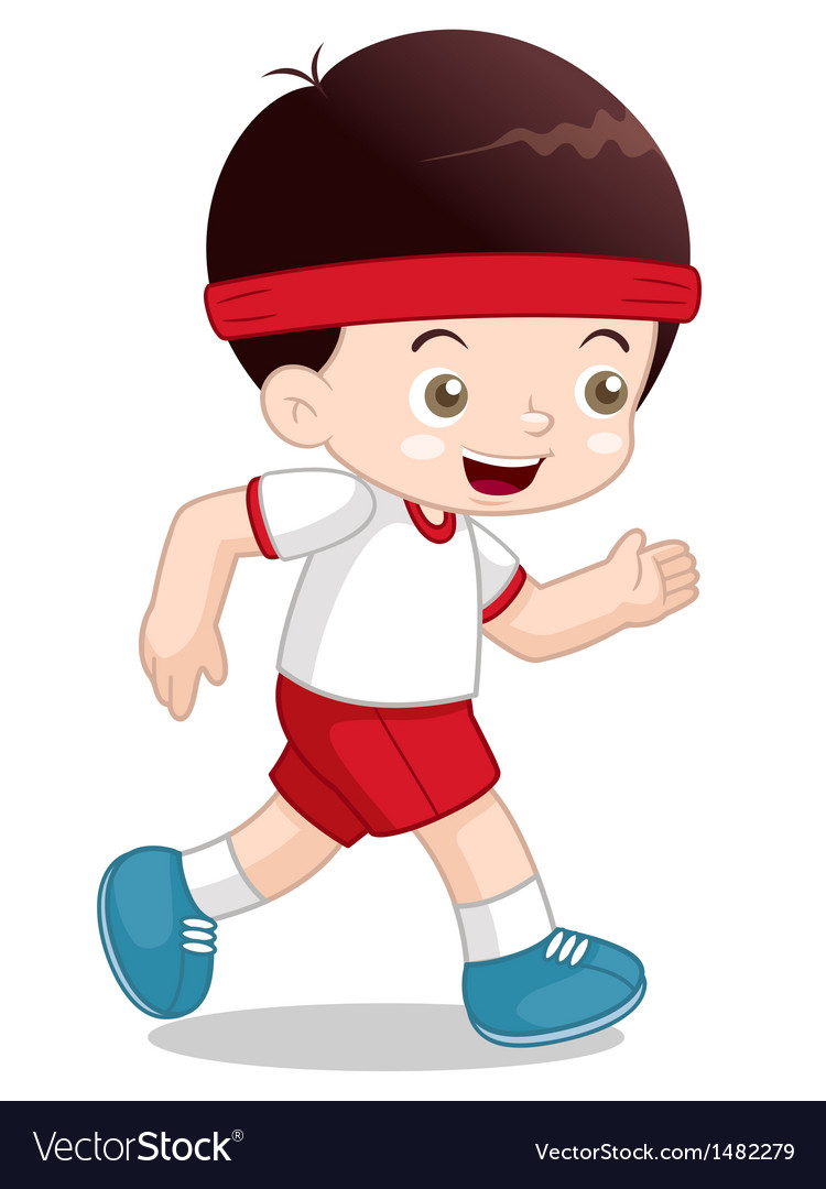 Boy jogging vector | Price: 1 Credit (USD $1)