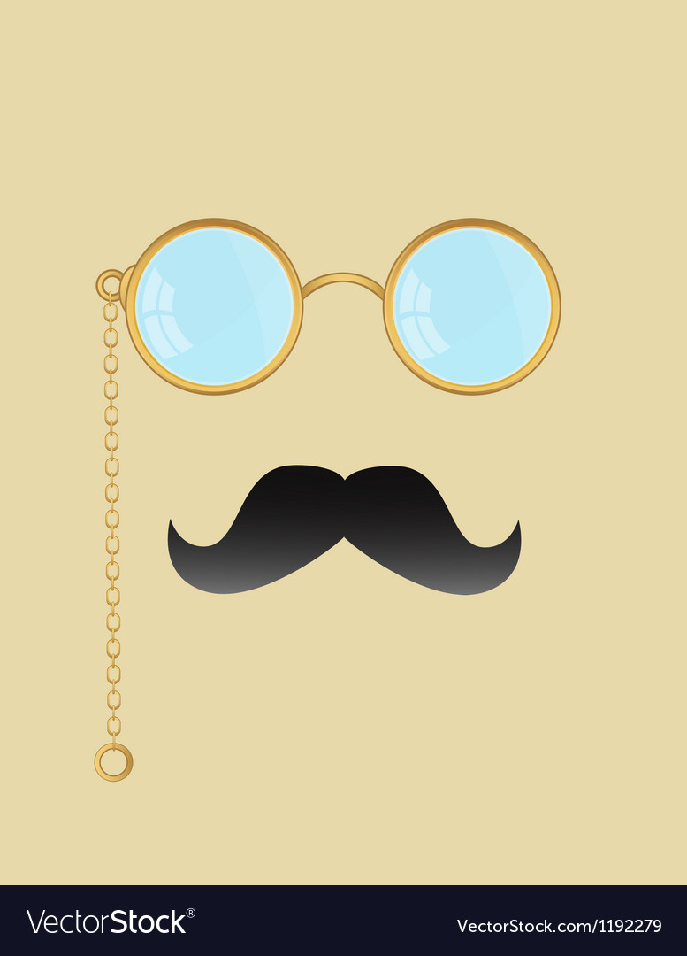 Man with glasses vector | Price: 1 Credit (USD $1)