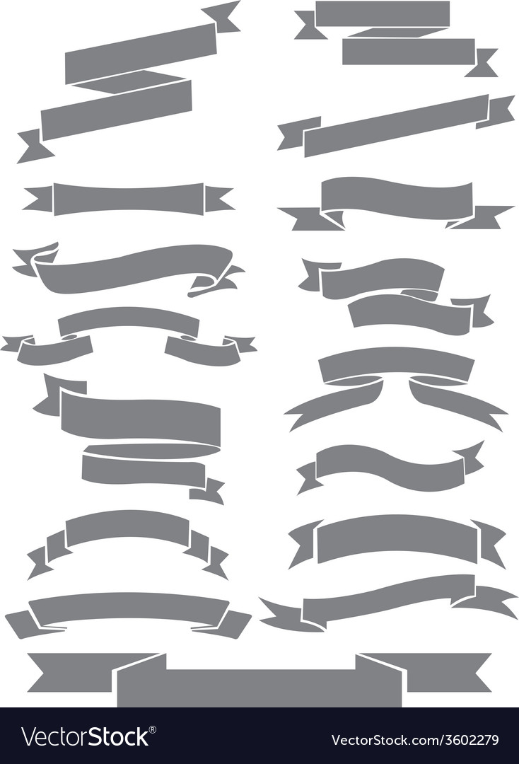Ribbons collection vector | Price: 1 Credit (USD $1)