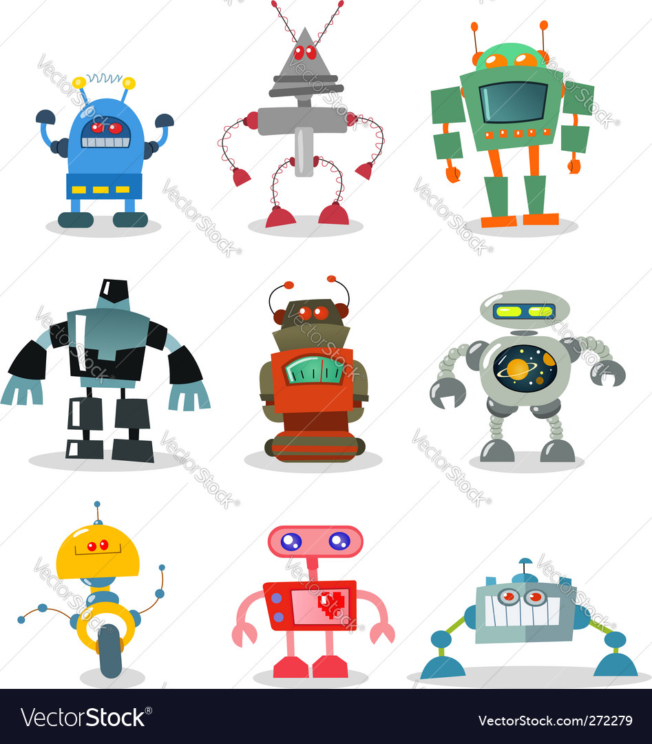 Robots vector | Price: 1 Credit (USD $1)