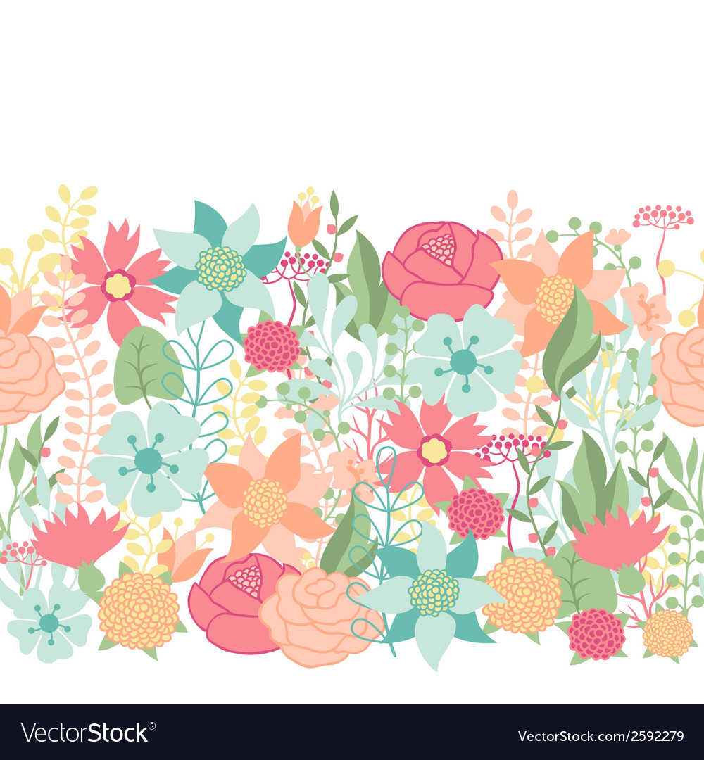 Seamless floral pattern with pretty stylized vector | Price: 1 Credit (USD $1)