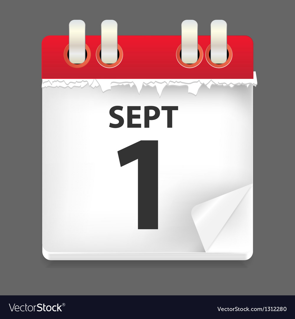 1 september date vector | Price: 1 Credit (USD $1)