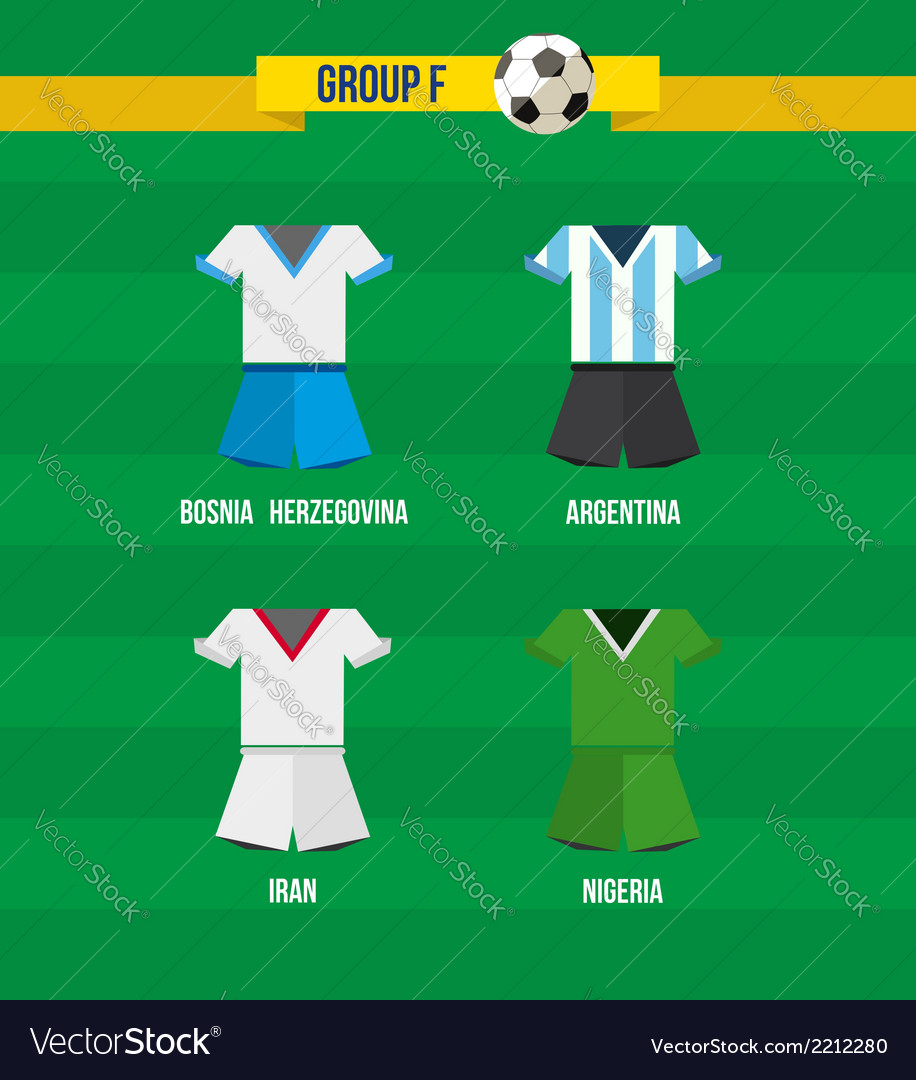 Brazil soccer championship 2014 group f team vector | Price: 1 Credit (USD $1)