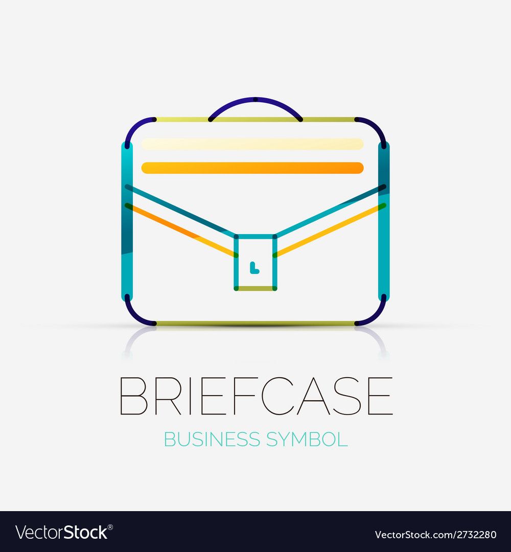 Briefcase icon company logo business concept vector | Price: 1 Credit (USD $1)