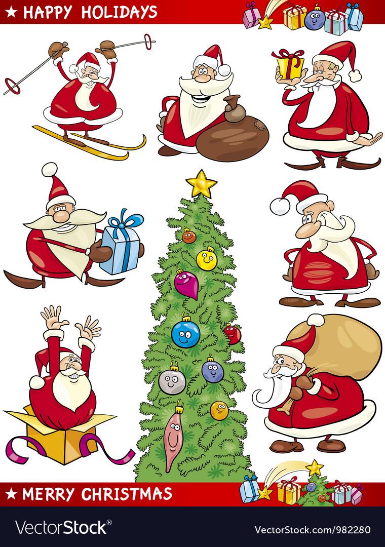 Cartoon set of christmas themes vector   Price: 3 Credit (USD $3)