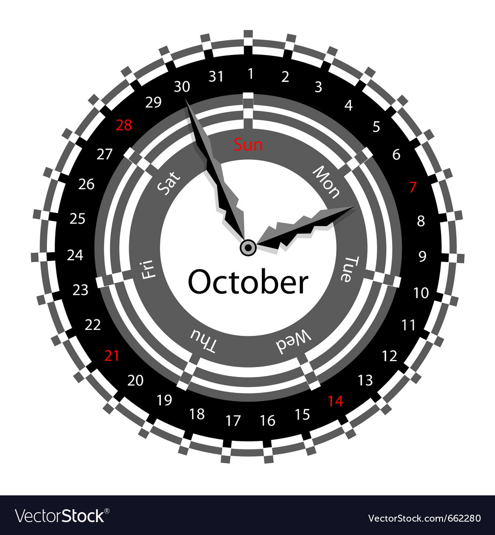 Clock calendar vector | Price: 1 Credit (USD $1)