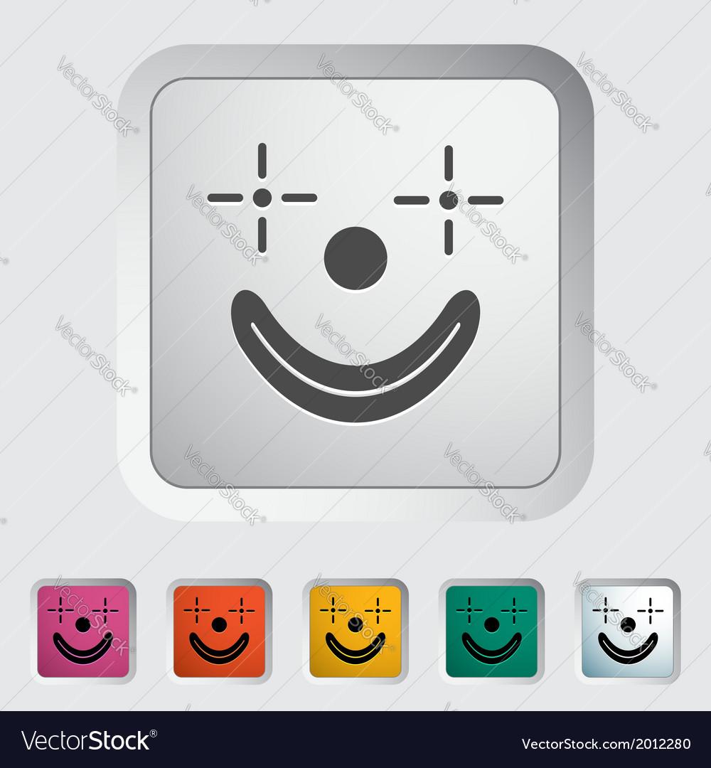 Clown icon vector | Price: 1 Credit (USD $1)