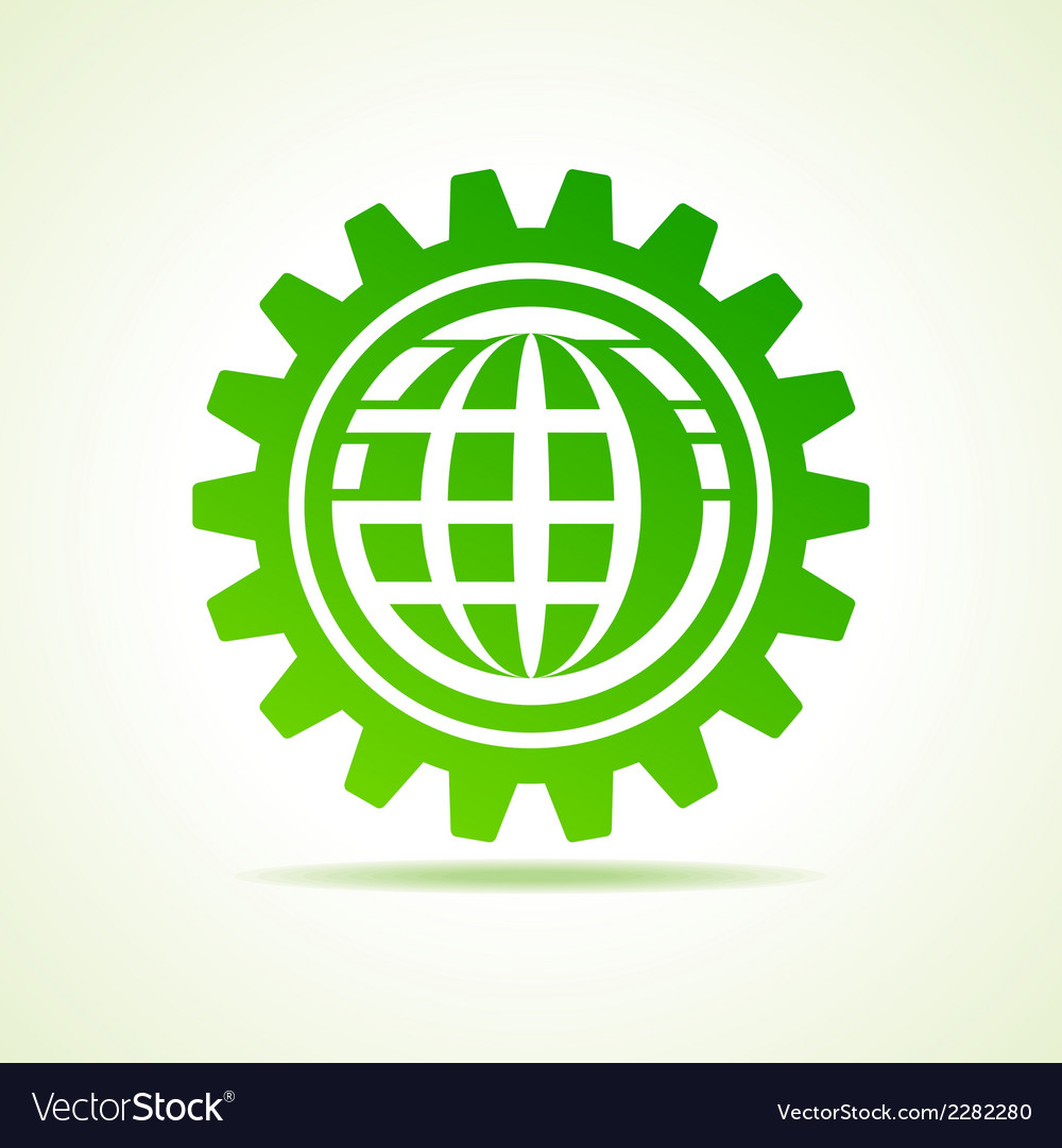 Global shape design in gear concept vector | Price: 1 Credit (USD $1)