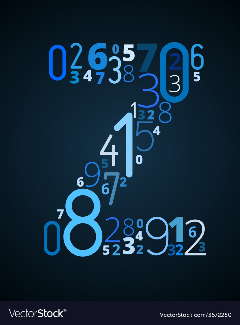 Letter z font from numbers vector   Price: 1 Credit (USD $1)