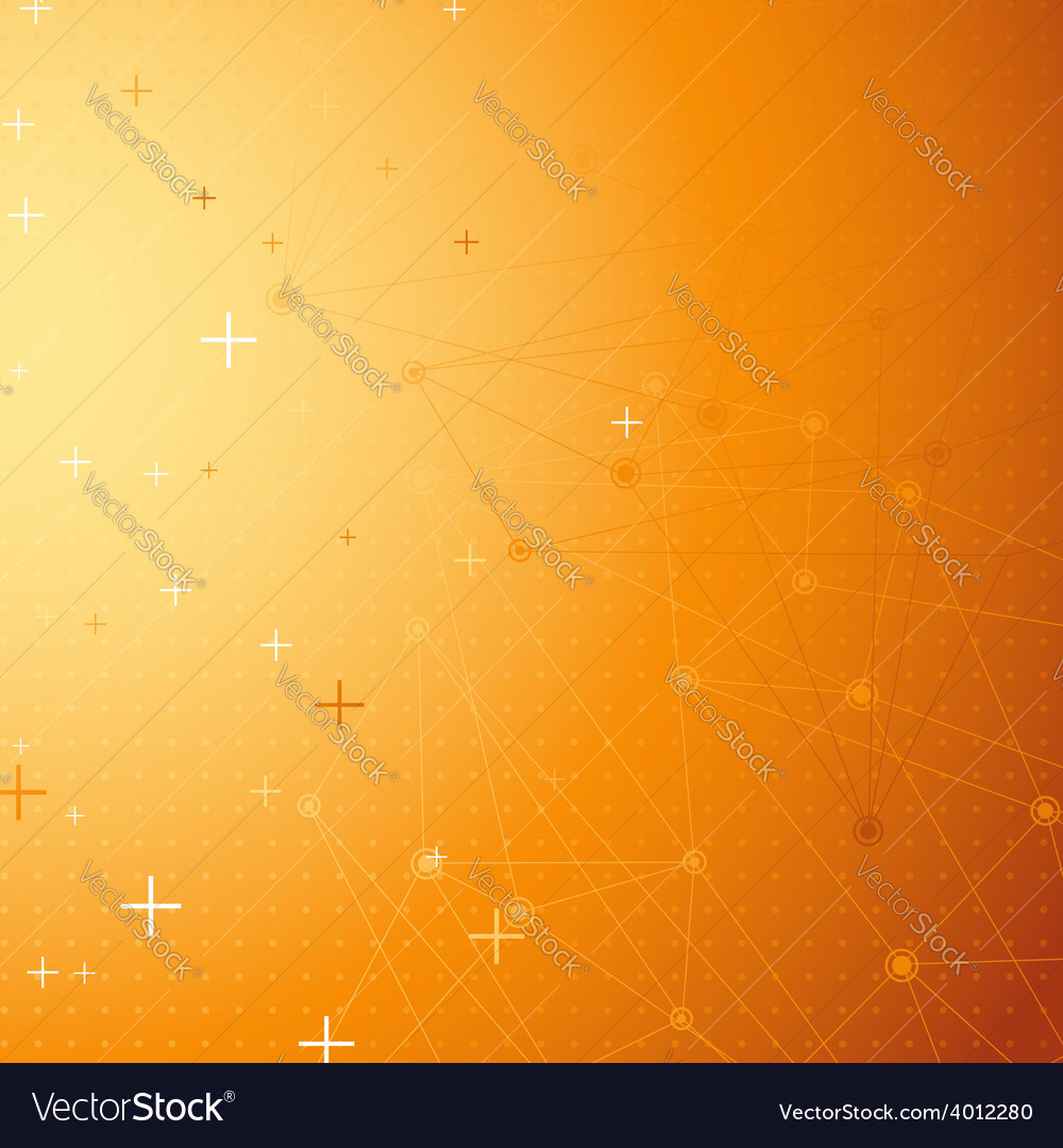 Orange net connection dot abstract background vector | Price: 1 Credit (USD $1)