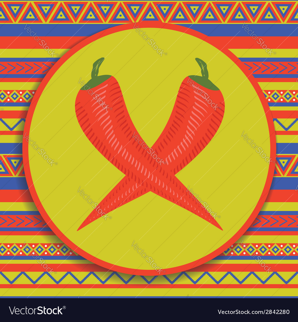 Pepper on patterned background vector   Price: 1 Credit (USD $1)