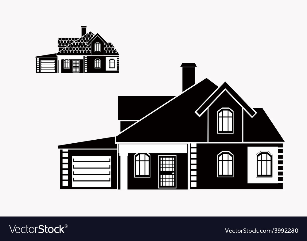 Private house vector   Price: 1 Credit (USD $1)