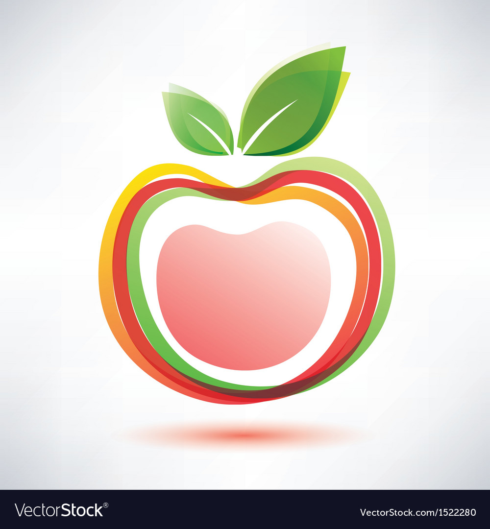 Red apple symbol icon vector | Price: 1 Credit (USD $1)