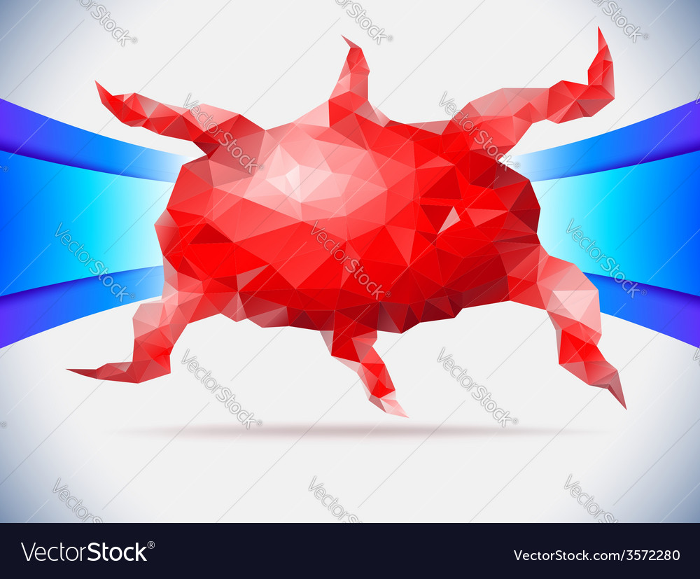 Red crystal octopus vector | Price: 1 Credit (USD $1)