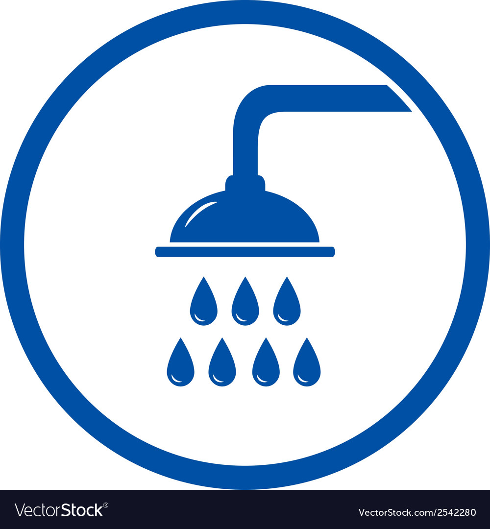 Sign with shower head vector | Price: 1 Credit (USD $1)