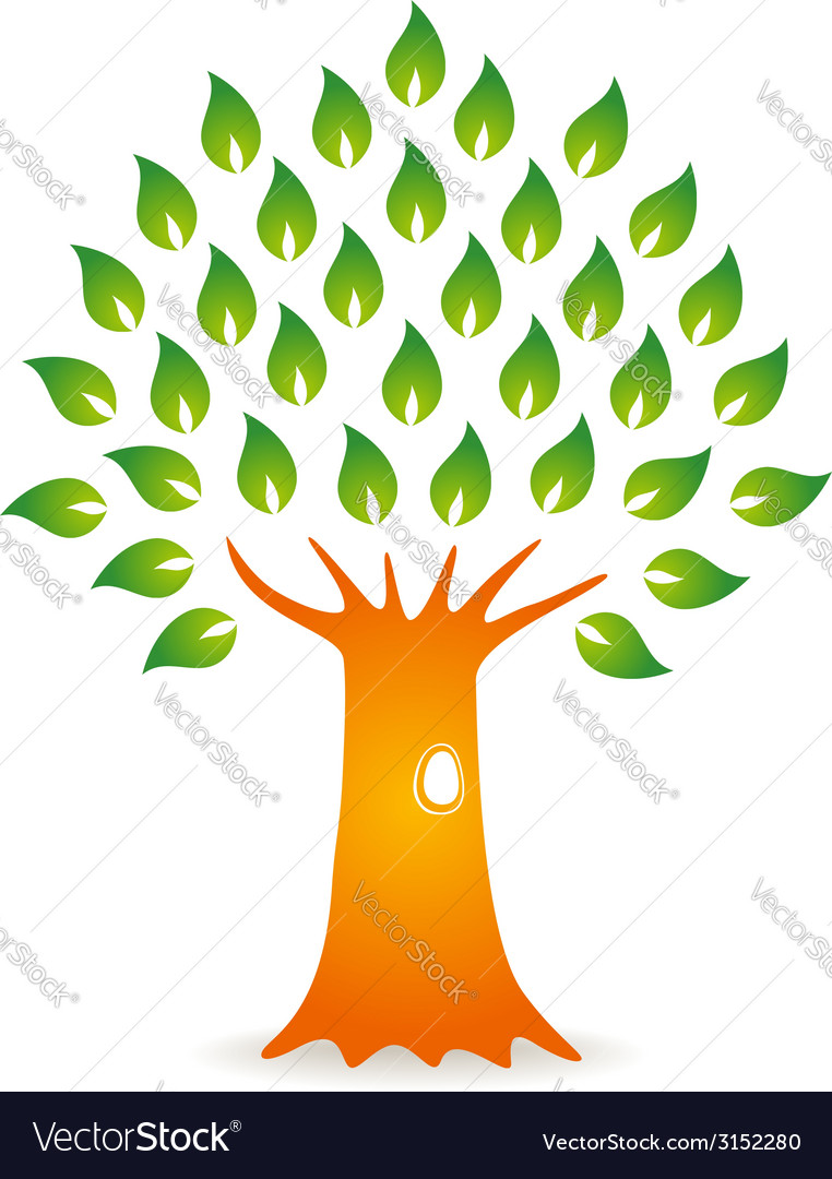 Tree with hole vector | Price: 1 Credit (USD $1)