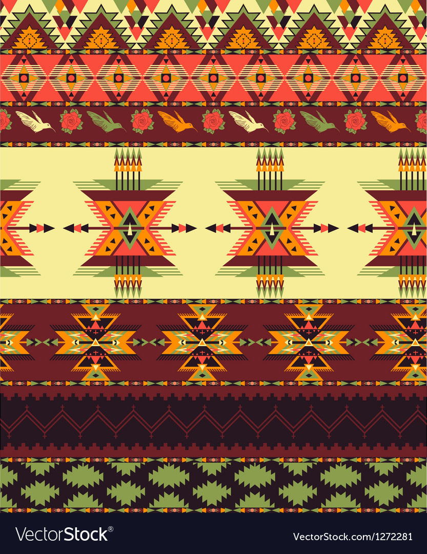 Aztec seamless pattern vector | Price: 1 Credit (USD $1)