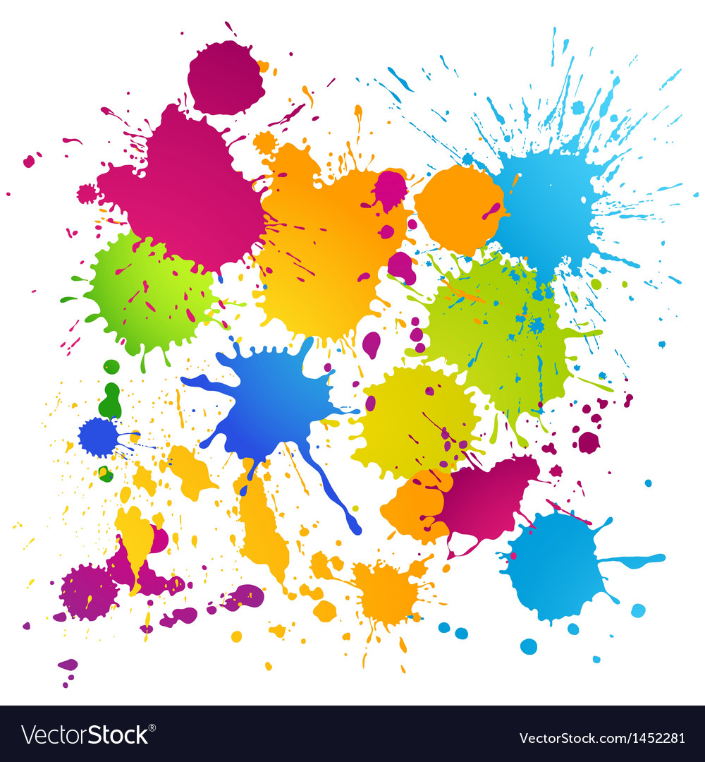 Colorful ink blots vector | Price: 1 Credit (USD $1)