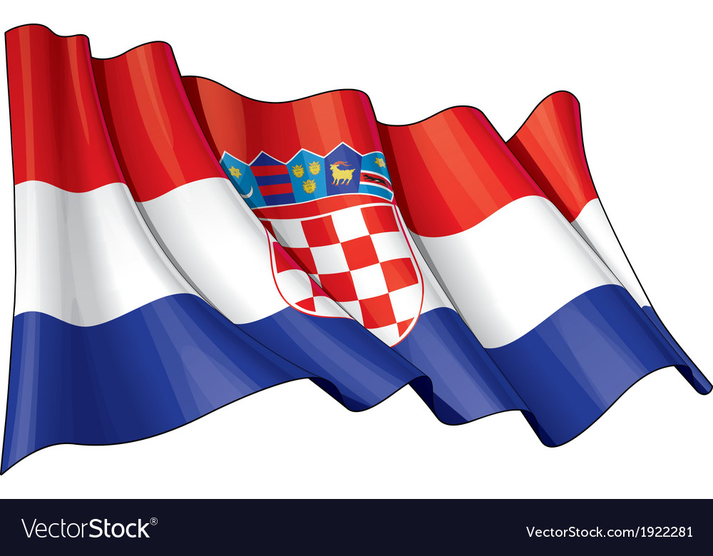 Croatia flag vector | Price: 1 Credit (USD $1)