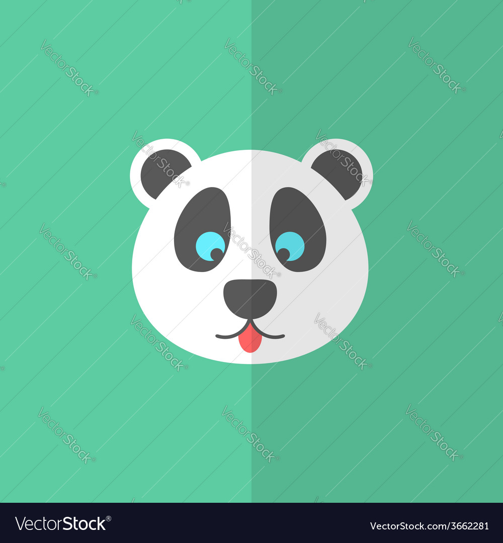 Cute panda on green background vector | Price: 1 Credit (USD $1)