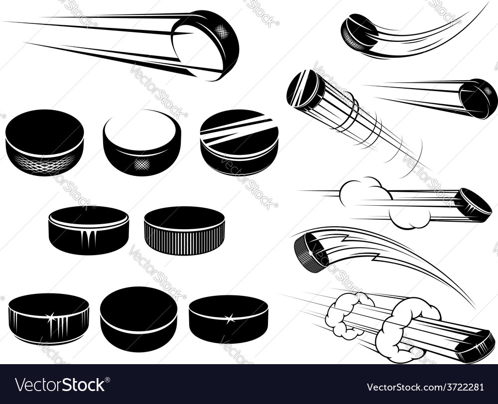 Ice hockey pucks set vector | Price: 1 Credit (USD $1)
