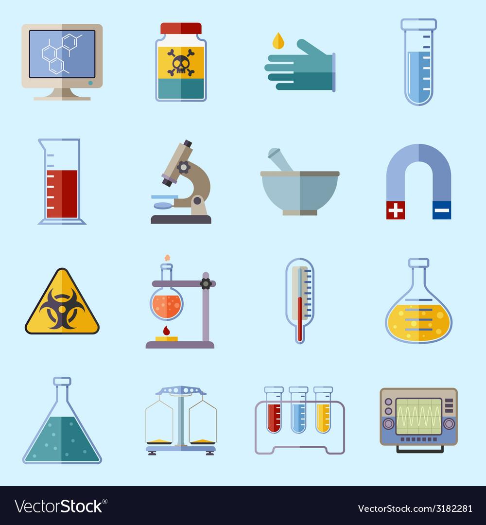 Laboratory equipment icons vector | Price: 1 Credit (USD $1)
