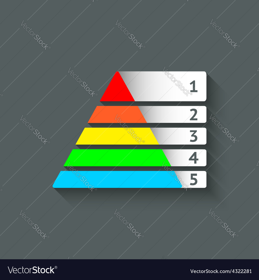 Maslow colored pyramid symbol vector | Price: 1 Credit (USD $1)