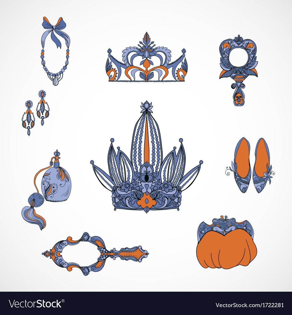 Princess accessories vector | Price: 1 Credit (USD $1)