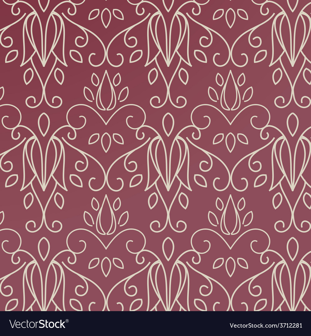 Seamless with vintage pattern vector | Price: 1 Credit (USD $1)