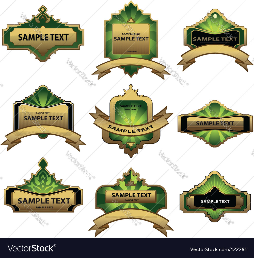 Set of gold labels vector | Price: 1 Credit (USD $1)