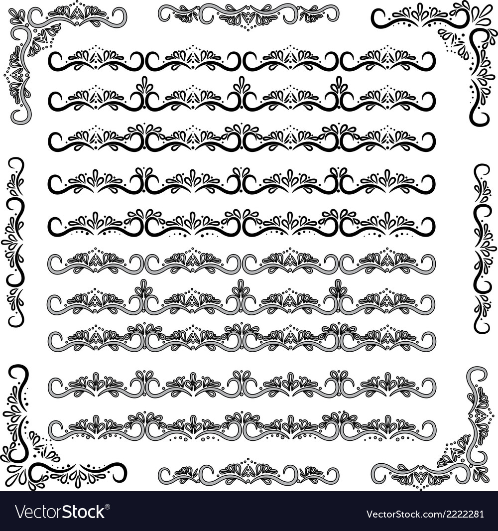 Swirl decor elements vector | Price: 1 Credit (USD $1)