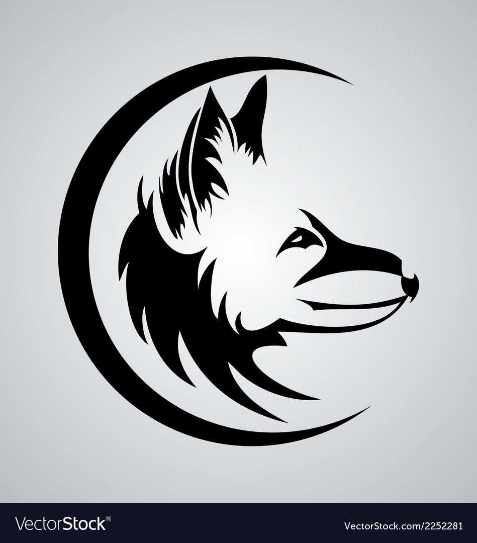 Tribal fox head vector | Price: 1 Credit (USD $1)