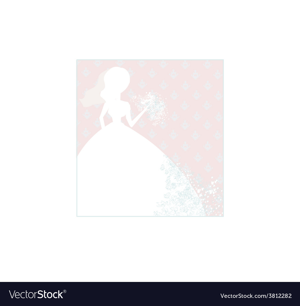 Abstract beautiful floral bride vector | Price: 1 Credit (USD $1)