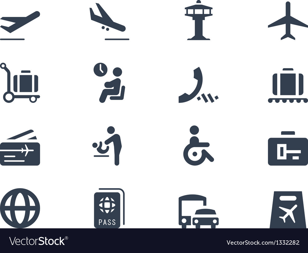 Airport icons vector | Price: 1 Credit (USD $1)