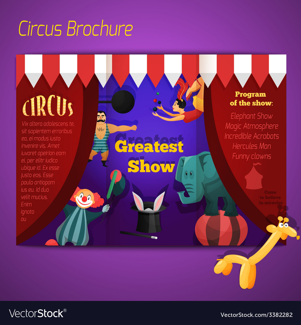 Circus performance brochure vector | Price: 1 Credit (USD $1)