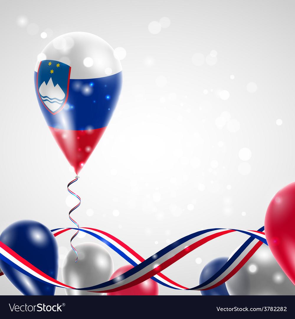 Flag of slovenia on balloon vector | Price: 3 Credit (USD $3)