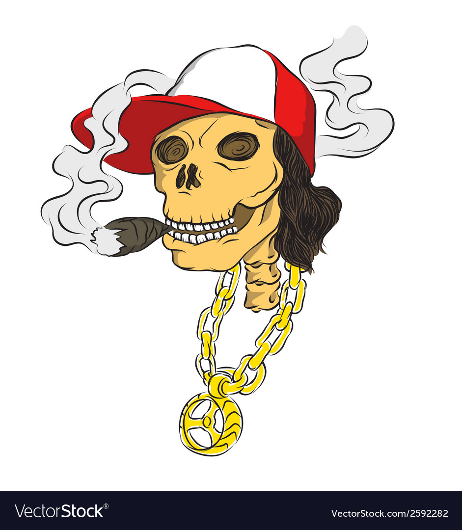 Hiphop bone smoke vector | Price: 1 Credit (USD $1)