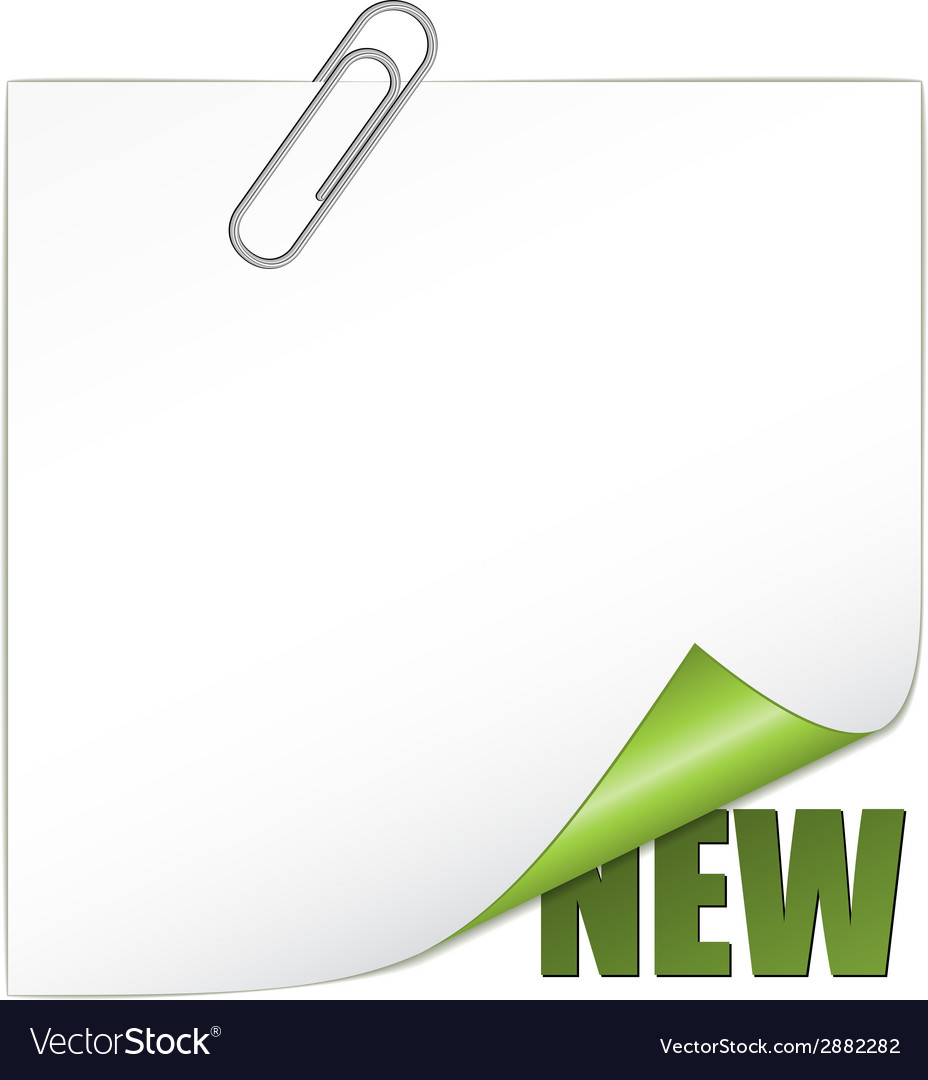 New corner with paperclip vector | Price: 1 Credit (USD $1)