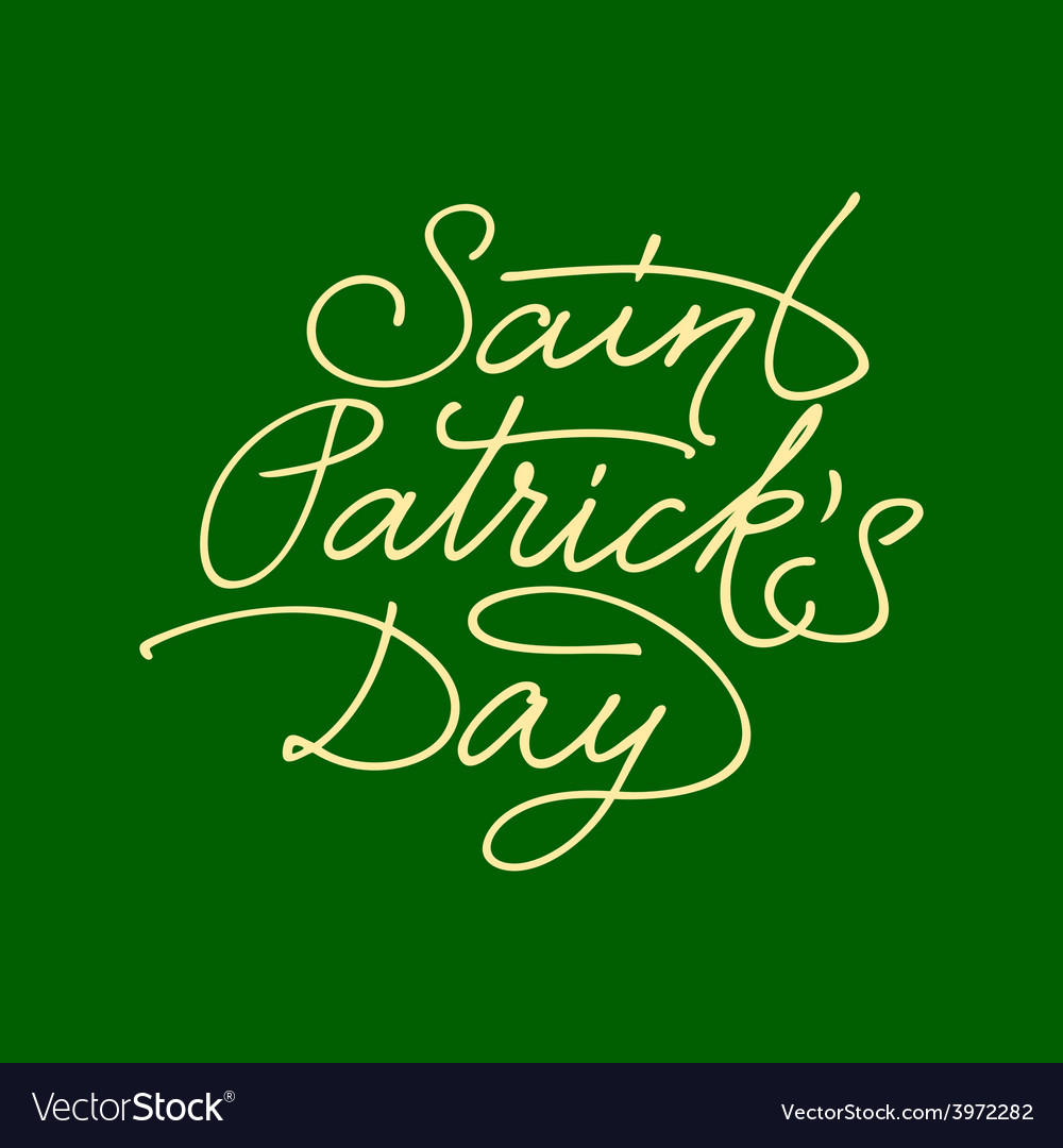 Saint patricks day lettering vector | Price: 1 Credit (USD $1)
