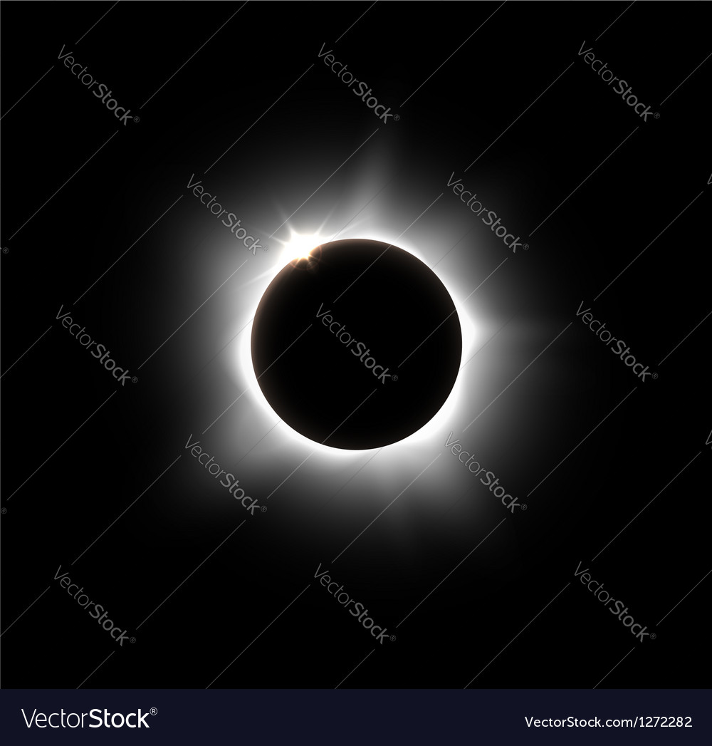 Solar eclipse vector | Price: 1 Credit (USD $1)