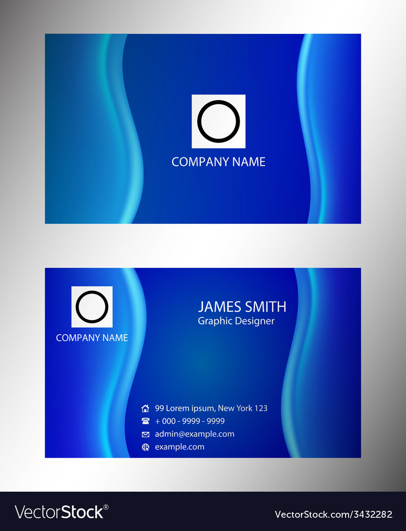 Visiting card set vector | Price: 1 Credit (USD $1)