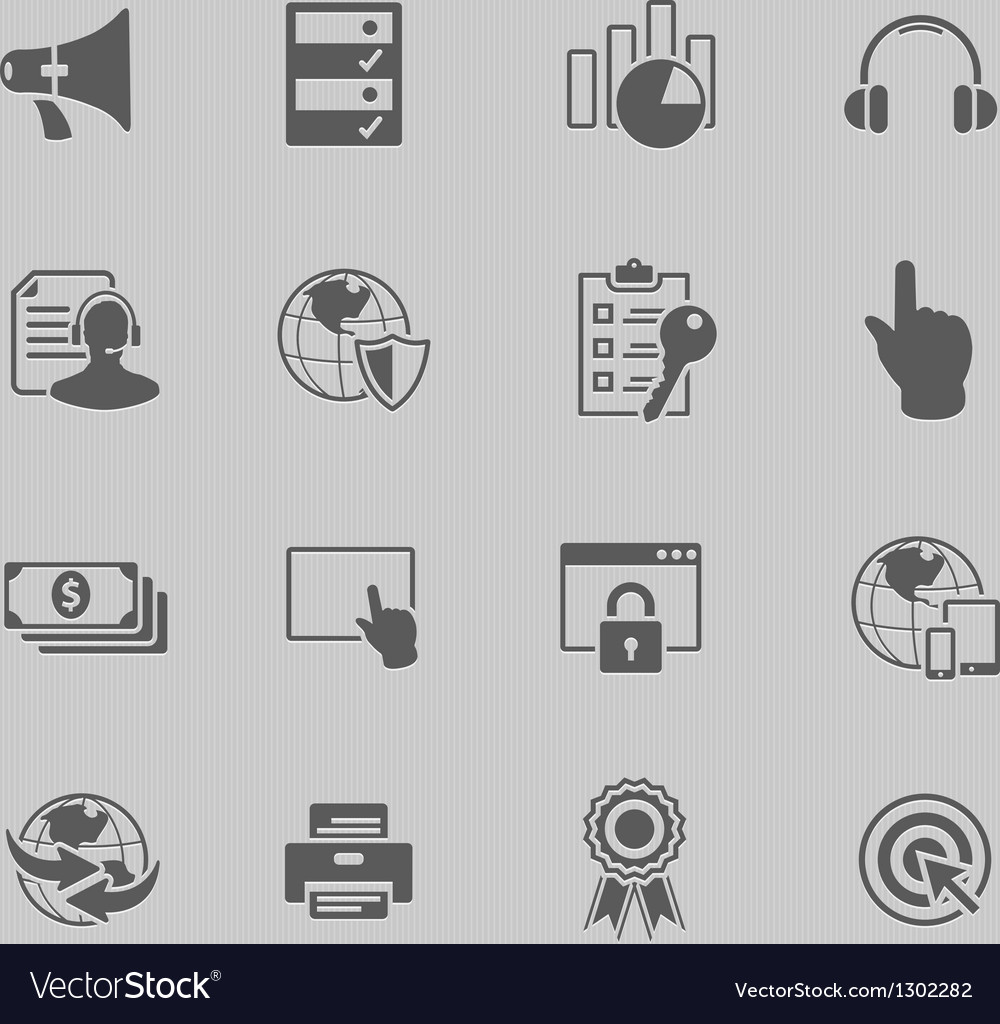 Web technology icon set vector | Price: 1 Credit (USD $1)